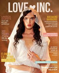 wedding dress daily model wears wedding dress tuxedo in magazine spread ny daily news