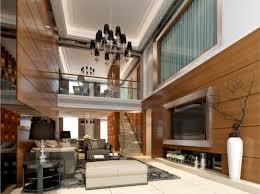 design wooden wall living room villa usa interior design