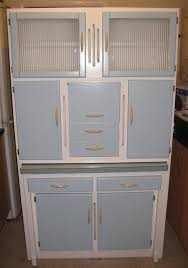 Retro Kitchen Hutch Vintage Kitchen Larder Cabinet 1950s 1960s Retro Cornflower Blue