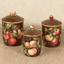 Canister Sets For Kitchen Ceramic Capri Fruit Kitchen Canister Set