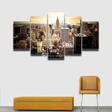 new york city home decor printed new york city building landscape canvas painting for wall