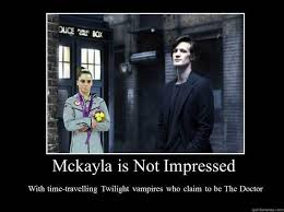 mckayla is not impressed with twilight doctor who memes quickmeme