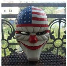 halloween robbers clown mask payday 2 game role chains buytra com