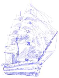 how to draw a sailing ship draw step by step