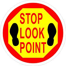 Floor Tape by Stop Look Point Floor Sign U2013 Industrial Floor Tape
