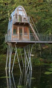 House On Stilts Plans by Awesome Stilt Cabin Plans 1 Unusual Forest Cabin On Stilts Over