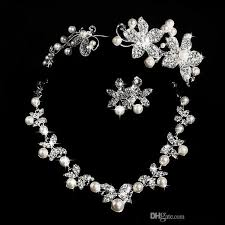 diamond style necklace images Hot styles 2016 cheap pearl necklace and earring set with tiaras jpg