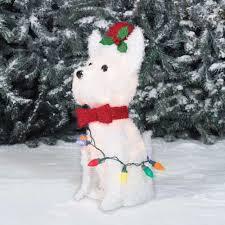 lighted dog christmas lawn ornament polar bear christmas lawn decoration psoriasisguru com