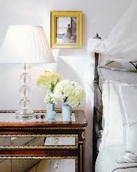 mirrored bedside lamps 3 drawer modern stylish glass mirrored