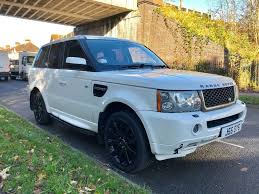 land rover white black rims range rover sport 3 6l diesel 2007 black and white rare colour