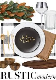 rustic modern thanksgiving table decor creative home