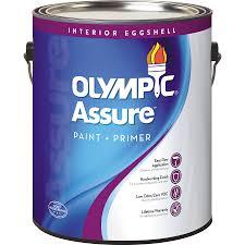 shop olympic assure base 1 ultra white eggshell latex interior