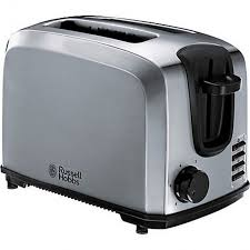 Russell Hobbs Toasters Russell Hobbs 20880 Polished Stainless Steel 2 Slice Compact Bread