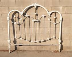 Shabby Chic Twin Headboard by Iron Headboard Etsy