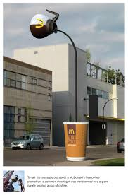 mcdonalds free coffee ambient advertising campaign example best
