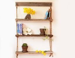 Wall Mounted Wooden Shelves by Hanging Shelf Three Shelves Hanging Barn Wood