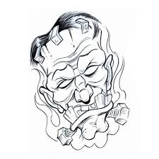 frank smoke monsters tattoo design art flash pictures images