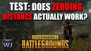 pubg 4x zeroing test does zeroing distance actually work playerunknown s