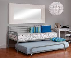 bedroom gray wrought iron daybeds with pop up trundle with