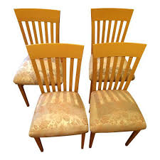 Dining Room Chairs Set Of 4 A Sibau Italian Vintage Dining Room Chairs Set Of 4 Chairish