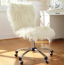 White Desk Chair With Wheels Design Ideas Fluffy White Desk Chair Home Design Ideas