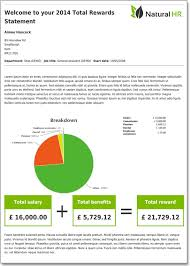 Total Compensation Statement Template by Total Reward Hr