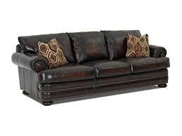 Klaussner Couch Klaussner Montezuma Leather Sofa With Rolled Arms Novello Home