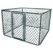 k 9 kwik dog kennel 6 ft x 6 ft x 4 ft galvanized steel boxed