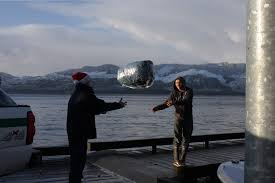 cutter anacapa crew delivers christmas gifts to villages coast