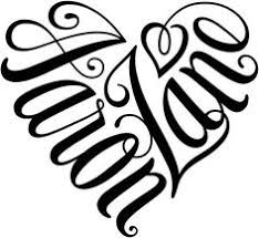 heart designs 2 names tattoo designs tattoo and google search