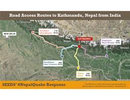 map of nepal and india road access routes to kathmandu nepal from india nepal reliefweb