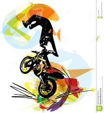 extreme motocross racing extreme motocross racer by motorcycle stock vector image 57410680