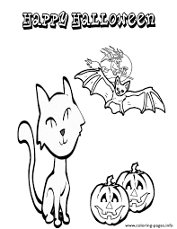 felix cat halloween bat kitten coloring pages printable