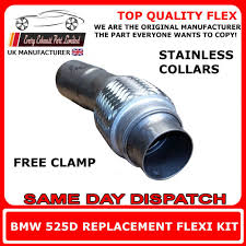bmw 525d 530d e60 e61 exhaust flexi flex repair pipe for dpf