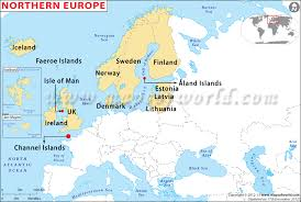 european countries on a map northern europe map northern european countries