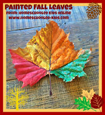 magazine for homeschooled kids painted fall leaft craft for kids