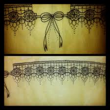 thigh tattoo sketches lace garter tattoo started this garter design on gabrielle this