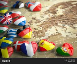 Flags Of European Countries Map Europe Hearts Flags European Image U0026 Photo Bigstock