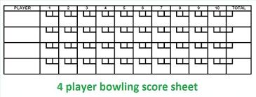 Ten Pin Bowling Sheet Template Bowling