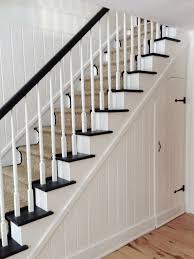 Painting A Banister White Best 25 Black And White Stairs Ideas On Pinterest Paint Stairs