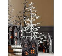 black faceted tree pottery barn