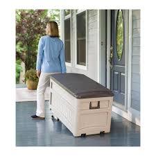 Suncast Patio Storage Bench Garden Storage Bench Box Home Outdoor Decoration