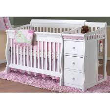 White Cribs With Changing Table Sorelle Tuscany 4 In 1 Convertible Fixed Side Crib And Changing