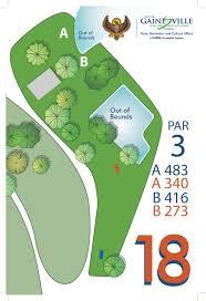 Gainesville Fl Map Northside Park U2013 Gainesville Chain Hawks Disc Golf Club