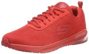 skechers skech air infinity vivid color womens red 12176 red lace