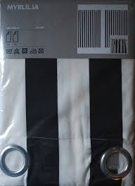 Outdoor Curtains Ikea by Love Black And White Striped Grommet Curtains From Ikea Myrlilja