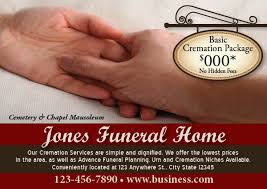 funeral homes prices funeral home advertising with postcard marketing response