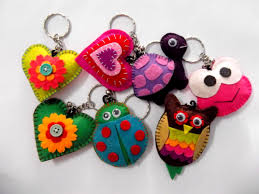 variety of felt keychain my artworks pinterest felt