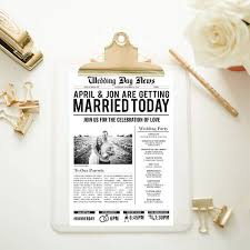newspaper wedding program wedding newspaper templates 7 word pdf psd indesign format