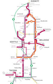Map Of Seattle Airport by Map Of The Week Sound Transit U0027s New System Expansion Map The
